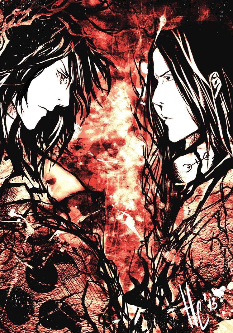 Madara Uchiha vs Hashirama Senju by NellSa on DeviantArt