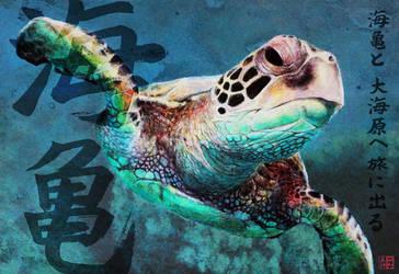 SEA TURTLE haiku by CUMMINGSart