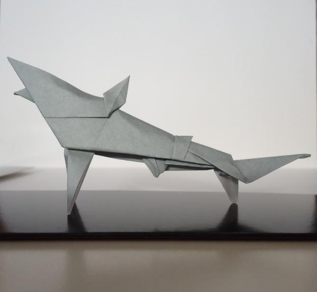 Origami Shark By Flamekurosei On Deviantart