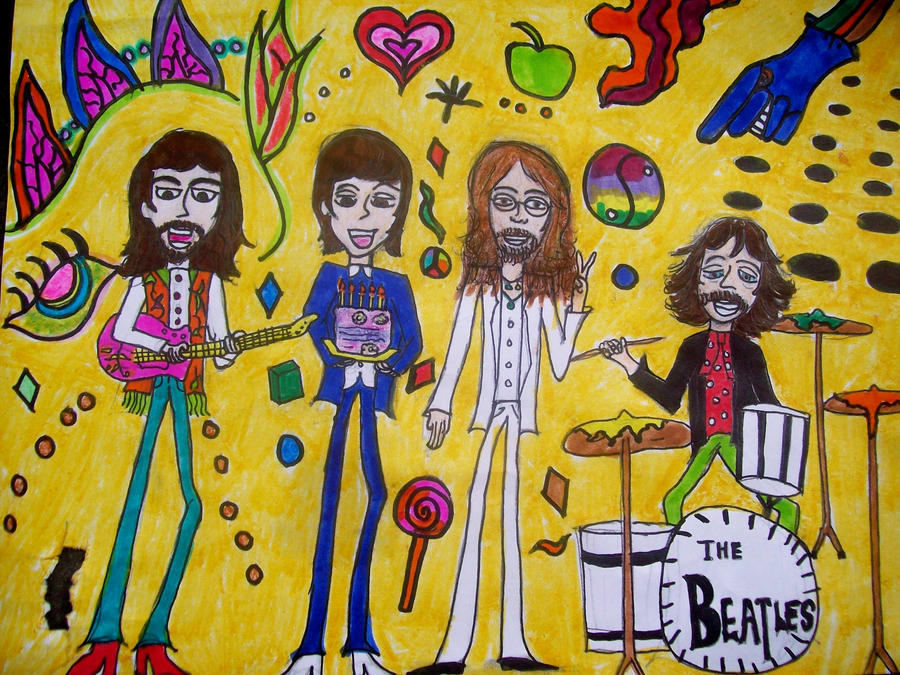 Beatles Psychedelic WallpaperPsychedelic Wallpaper