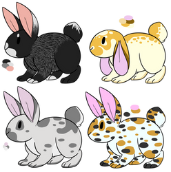 Rabbit adopts #2 (CLOSED!) by FlowerfawnCreations