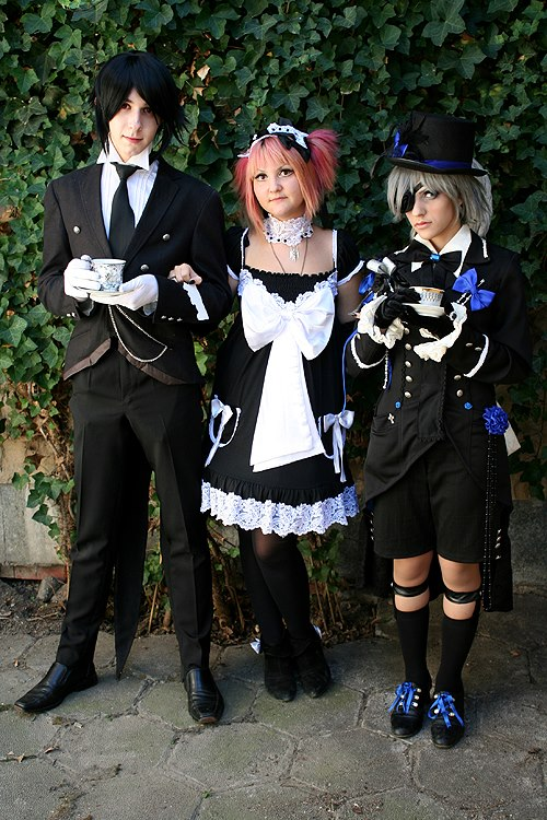 Sebastian,Ciel and Loli by LoveAsia