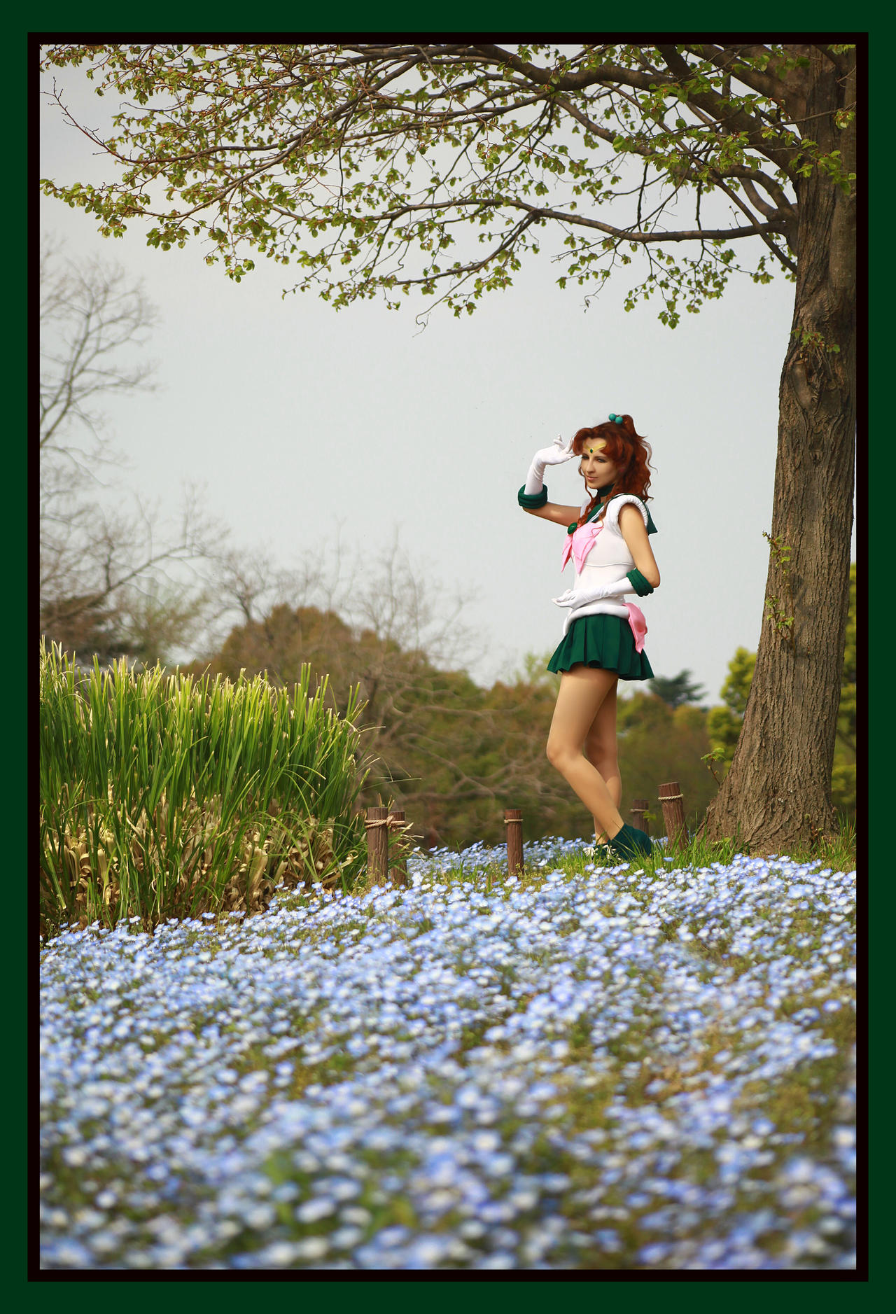 Sailor Jupiter and blue flowers *.* by foux86