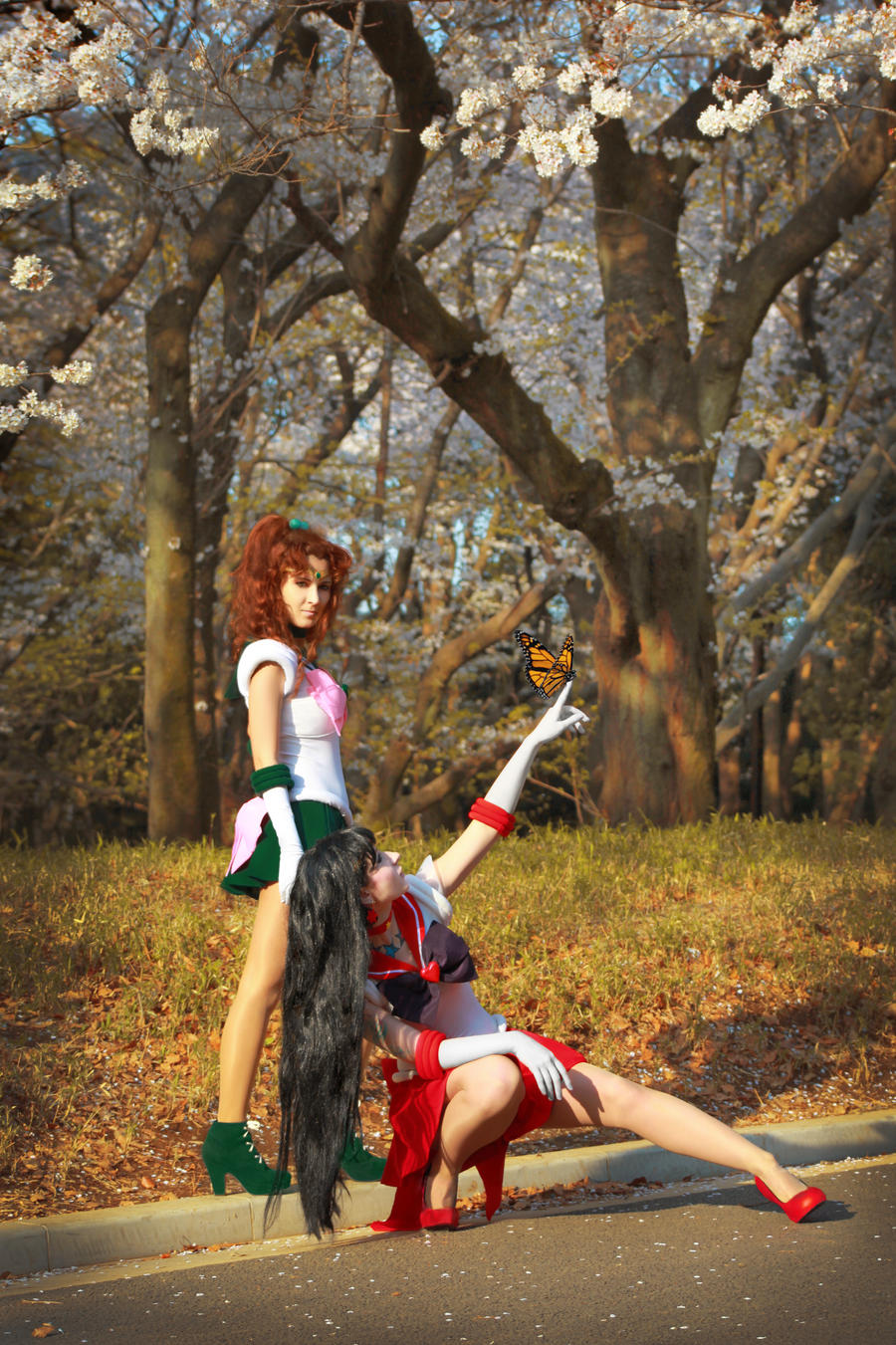 Sailor Jupiter i Sailor Mars by foux86
