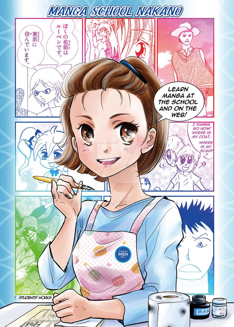 Manga School Nakano Flyer 1 by NaoYazawa