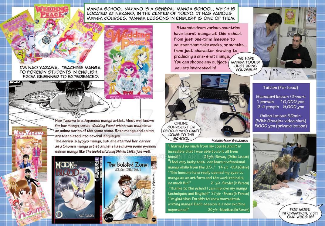 Manga School Nakano Flyer 2-3 by NaoYazawa