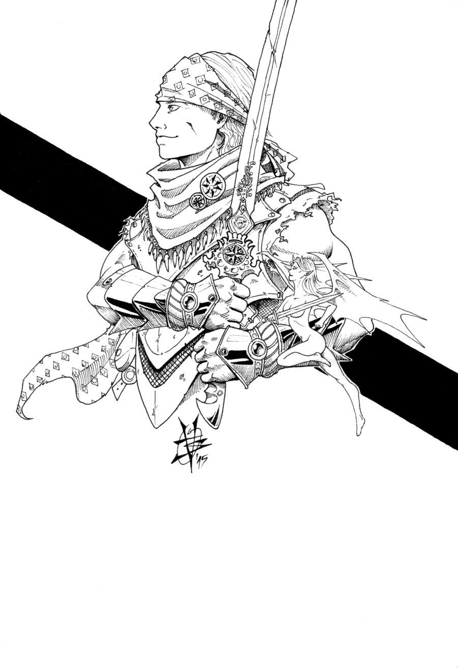 half elf cleric by TravTheMad
