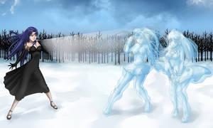 Caster, Rin and Sakura Frozen