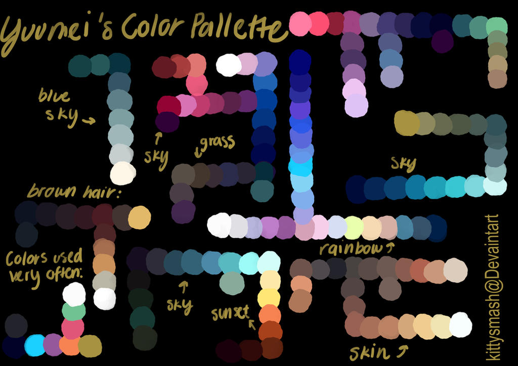 Yuumei Color Palette By Kittysmash On Deviantart