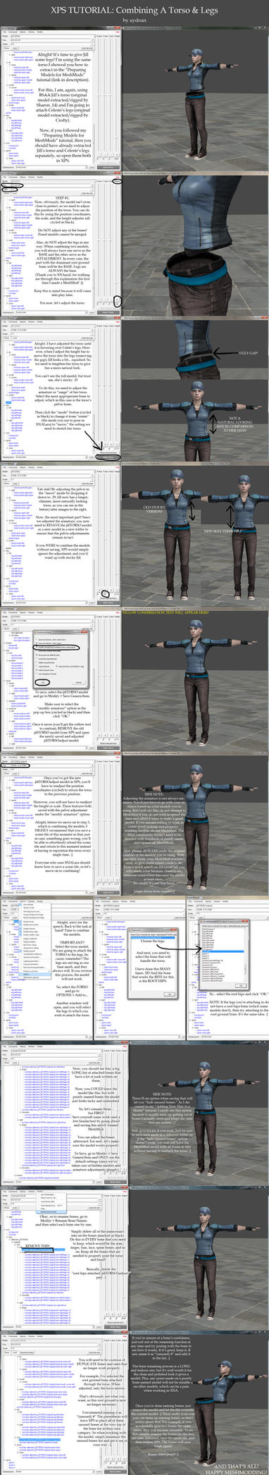 XPS Tutorial- Combining A Torso And Legs by aydean