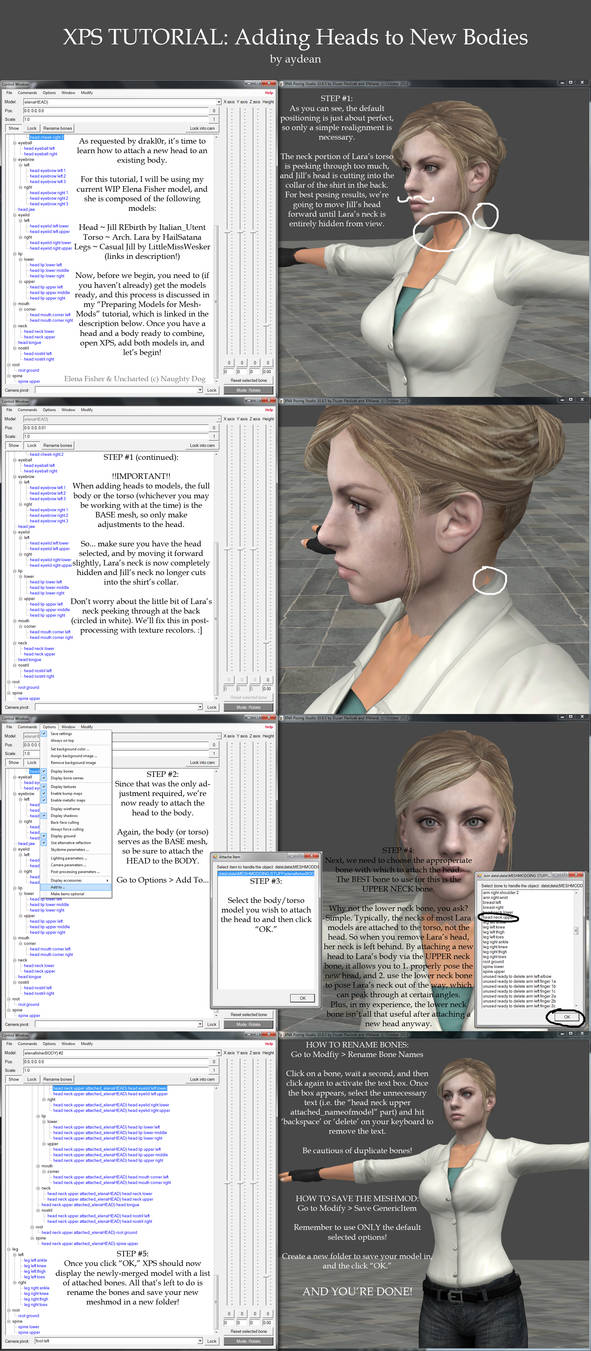 XPS Tutorial- Adding Heads to New Bodies by aydean on DeviantArt