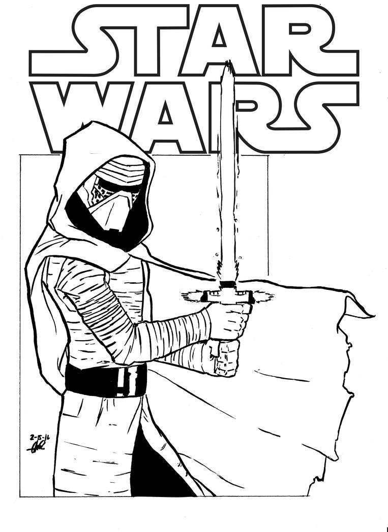 Kylo Ren inked sketch by Chris-Isakson27