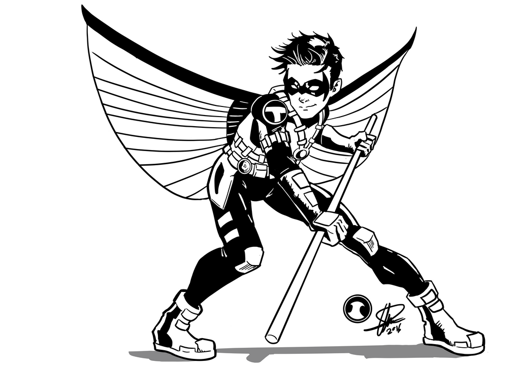 Red Robin Commish Inks by Chris-Isakson27