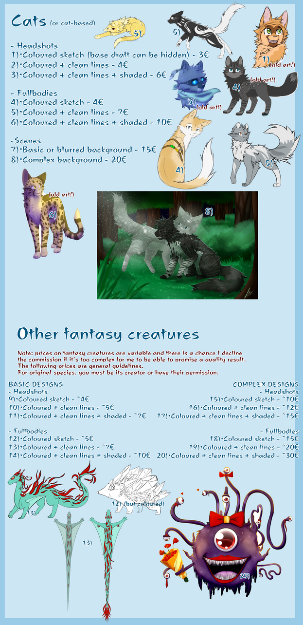 Commission prices (READ DESCRIPTION) by BlueWildfire9