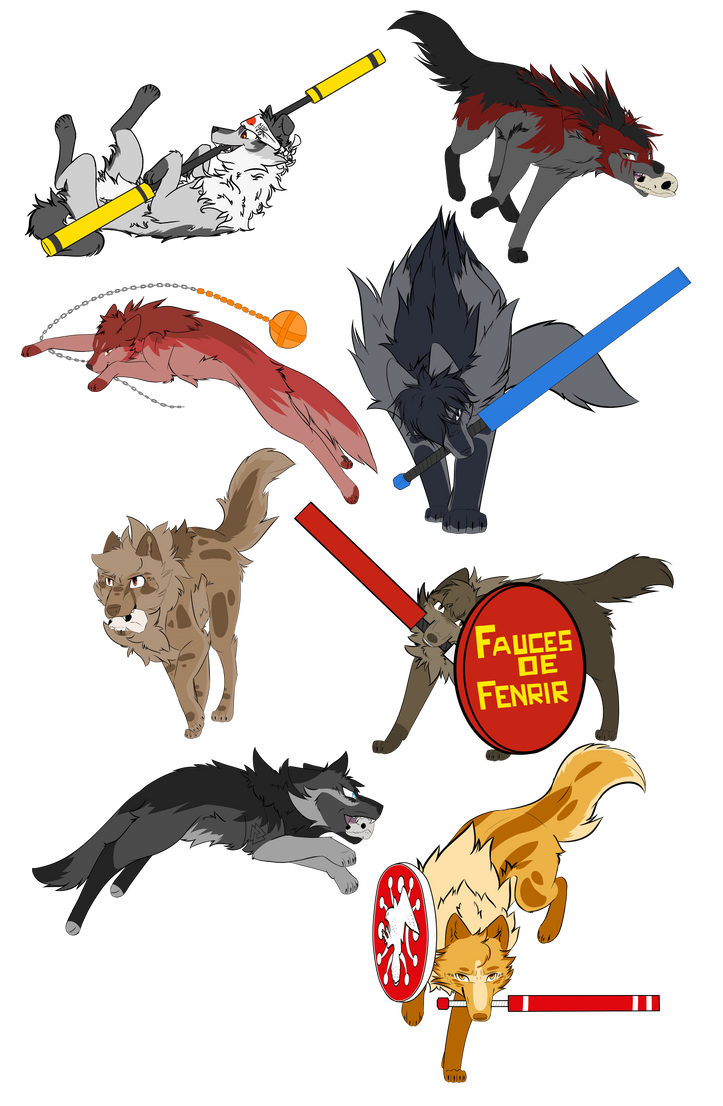 Some juggerpuppers! by BlueWildfire9