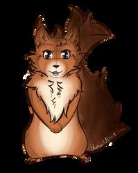 Squirrel-cat sketch 1 - Commission