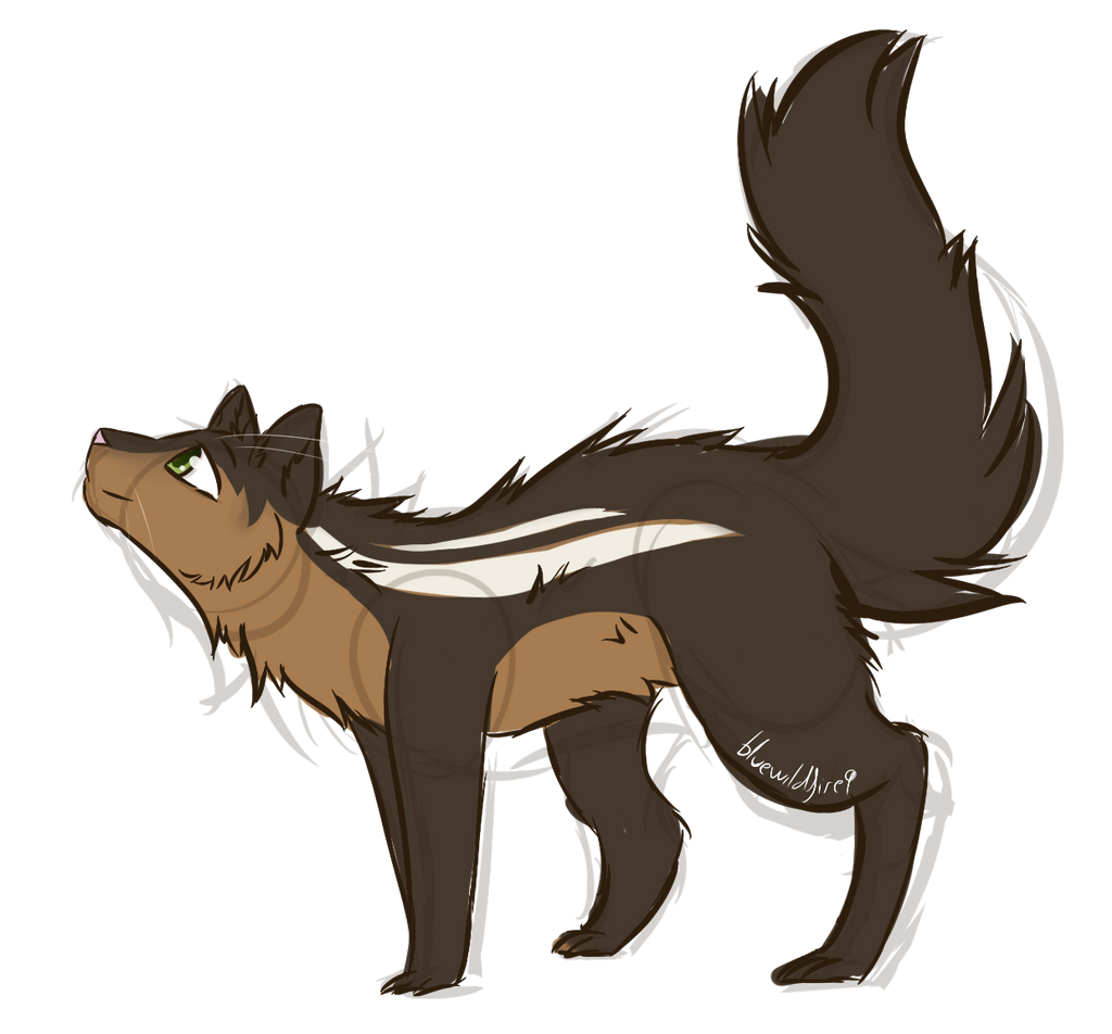 Squirrel-cat sketch 2 - Commission