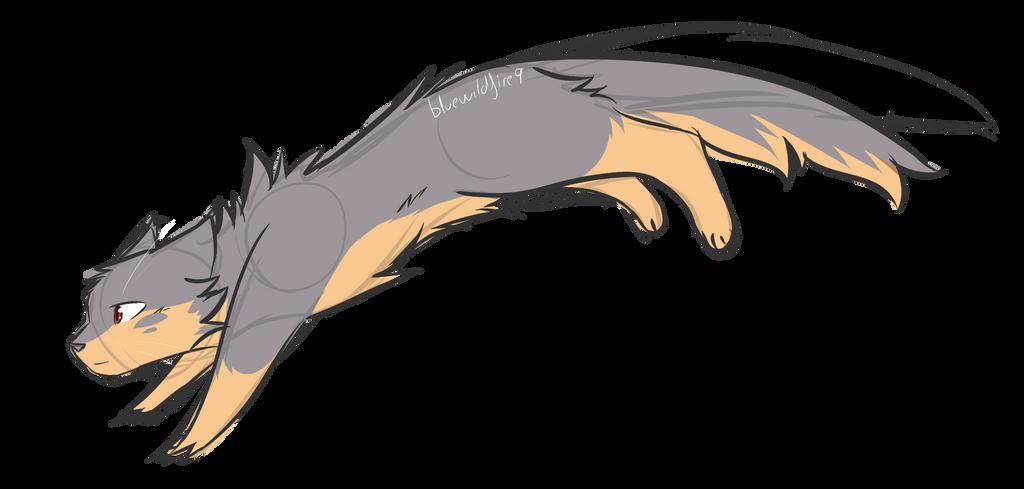 Squirrel-cat sketch 3 - Commission