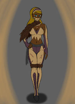 Mortal Kombat: Brown Female Ninja OC