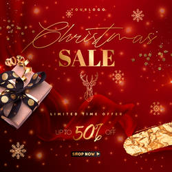 Download Christmas Sale Post PSD Template for free