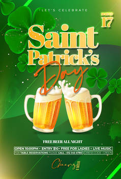 Saint Patricks Day Free PSD Flyer Template