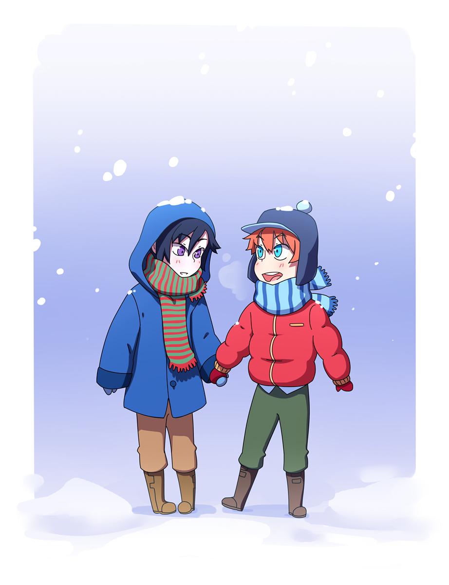 Snowy AU by Flipfloppery
