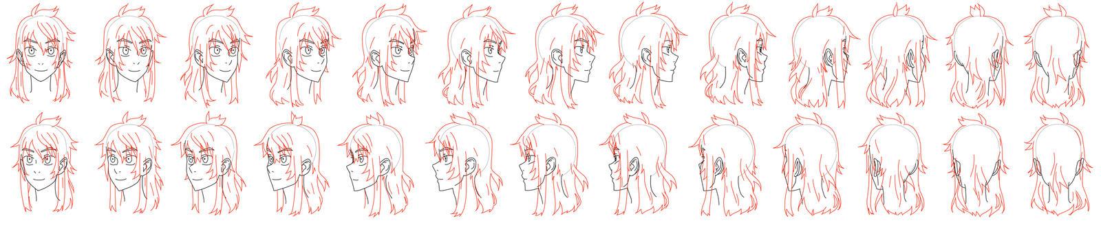 Head turnaround frames by Flipfloppery