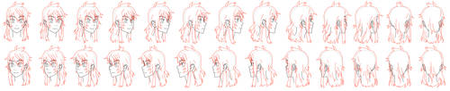 Head turnaround frames by Flipfloppery