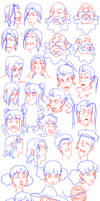 Characters expressions and head shapes