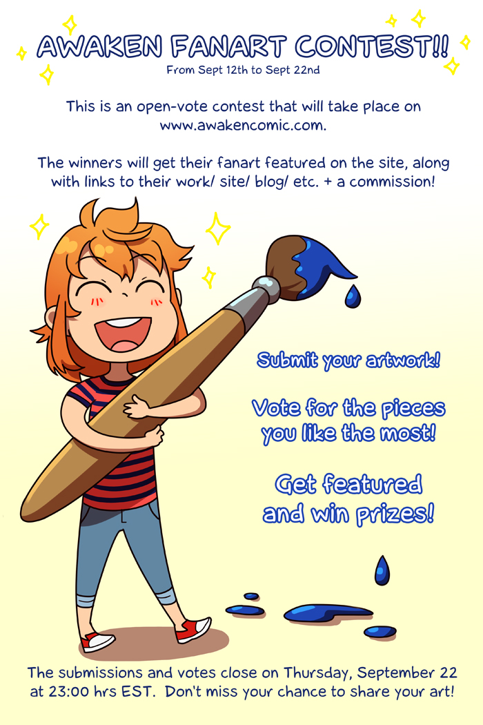 Awaken comic layout  chapter4 sc contest by Flipfloppery