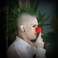 Clown on a break by zapfino