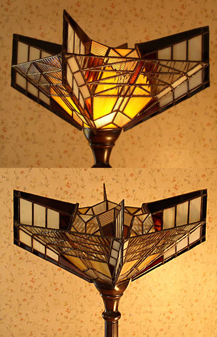 Stained glass lamp shade by zapfino