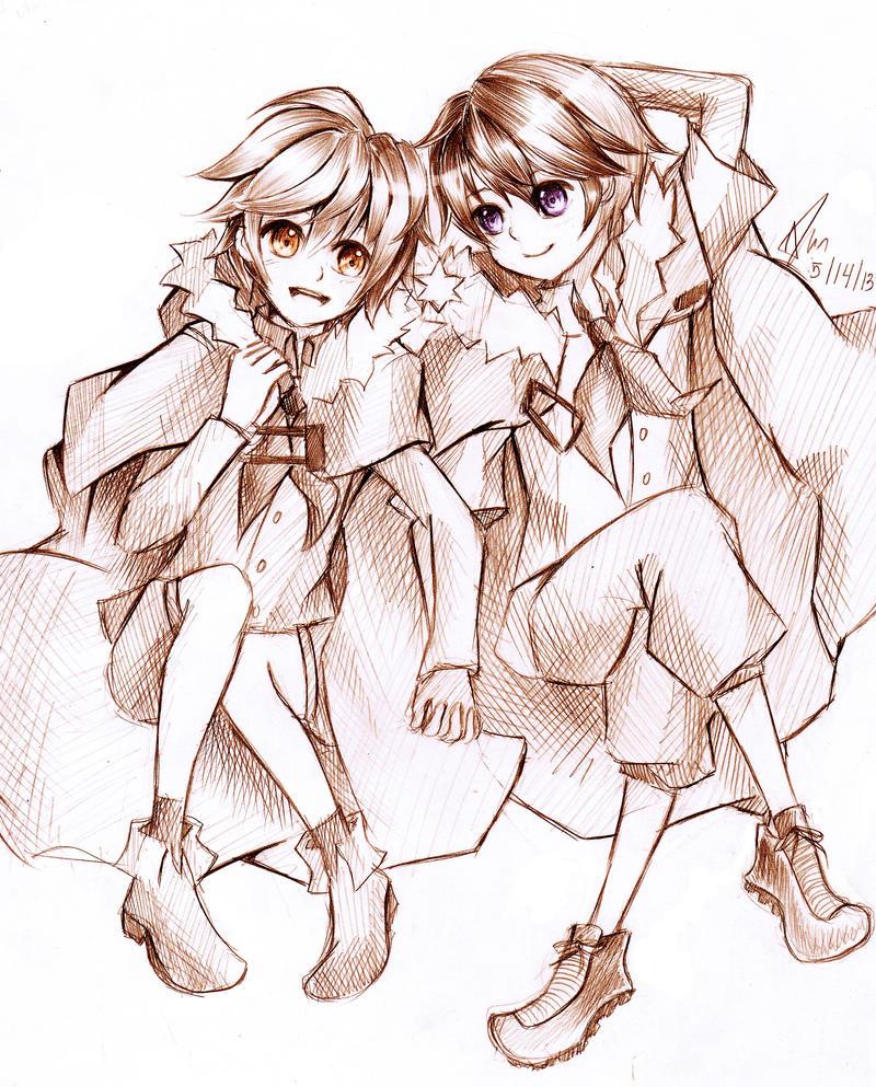 Futariboshi .:Soraru/Lon:. by aeirue-chan