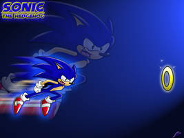 'Sonic Themed' Wallpaper :0 by Nomad-The-Hedgehog