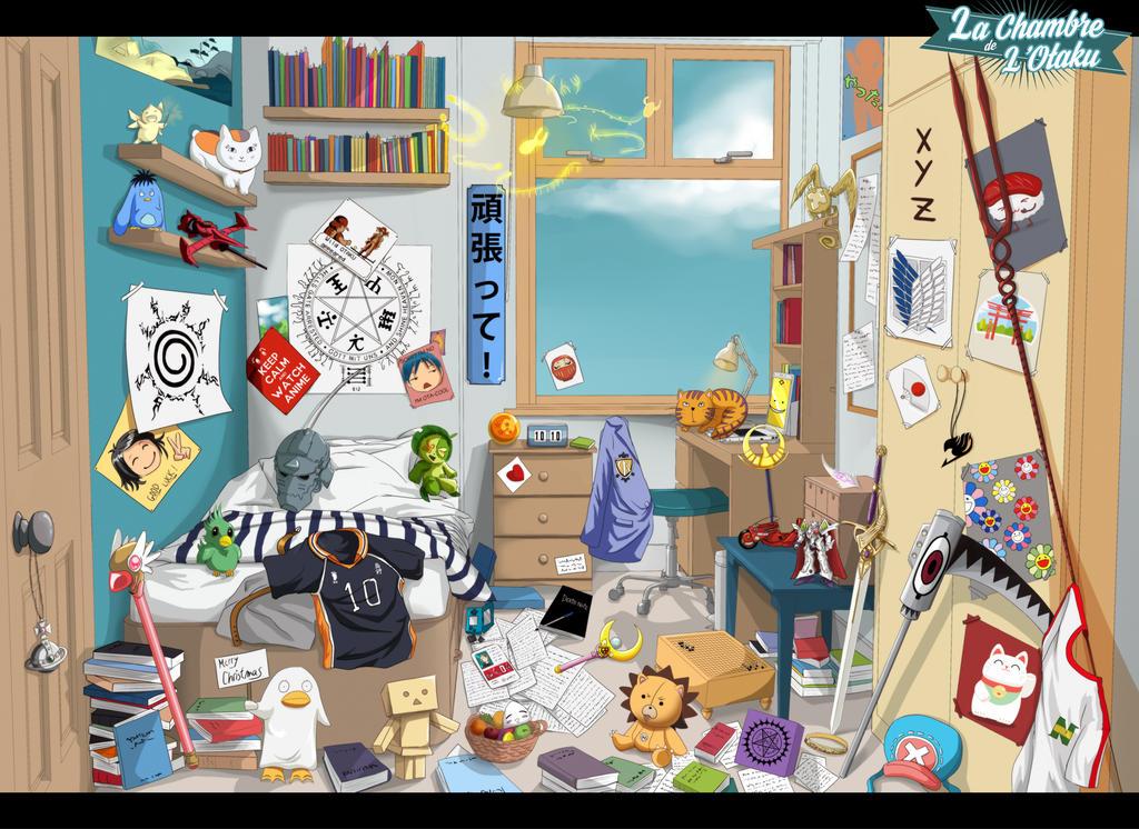 Contest la chambre de l 39 otaku by di din on deviantart for Chambre otaku