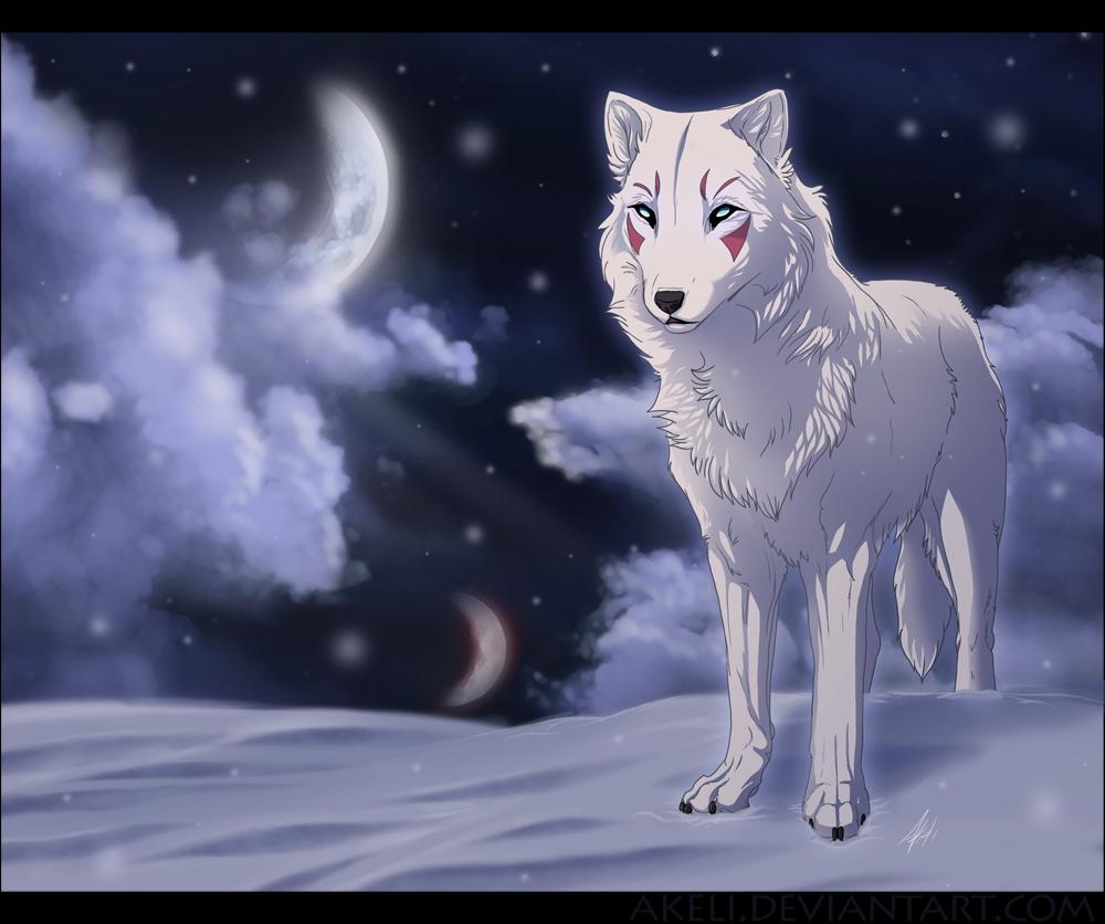Blue Lightning Wolf Anime