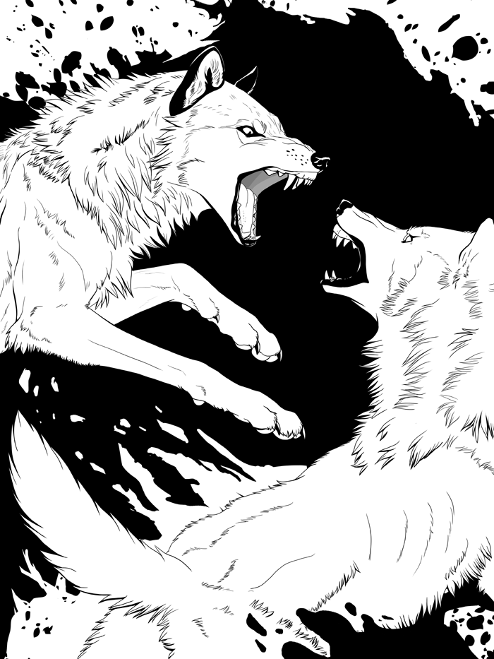 Rage - Wolf Fight by akeli