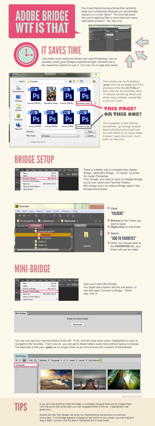 Adobe Photoshop / Bridge Tutorial by akeli