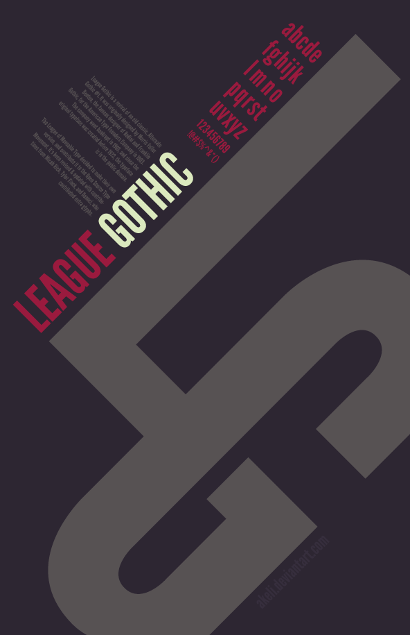 Typography Poster - League Gothic by akeli