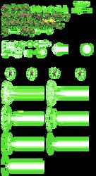 DBZ LSW style Green Lantern Sprites