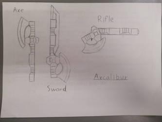 Axcalibur - line art sketch