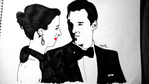 Benedict Cumberbatch and Sophie Hunter. by meerkat--love