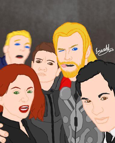 Avengers Selfie by meerkat--love