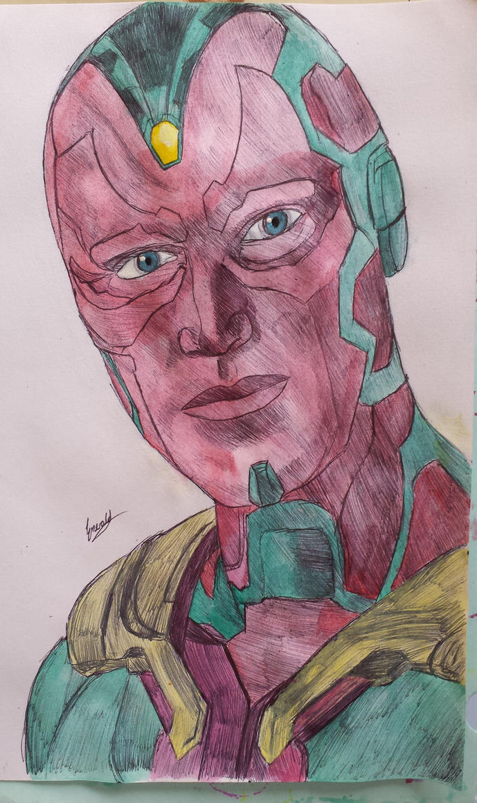 Avengers: Age of Ultron The Vision by meerkat--love
