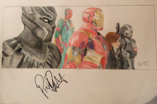 Team Iron Man (Signed drawing)
