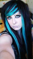 blue scene hair