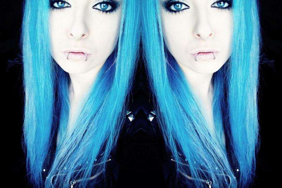 scene girl bibi barbaric blue hair by BibiBarbaric
