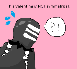 Kid Valentine: This Valentine is NOT symmetrical by hanachiba