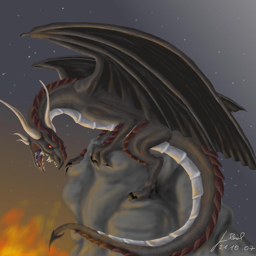 Кто рисовал крылатого дракона 15