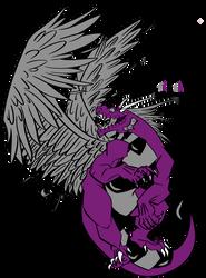 Asexual Pride Dragon